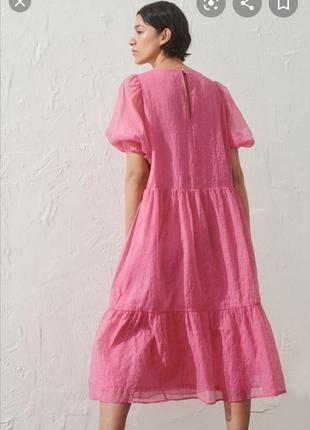 Миди воздушное платье свободного кроя h&m