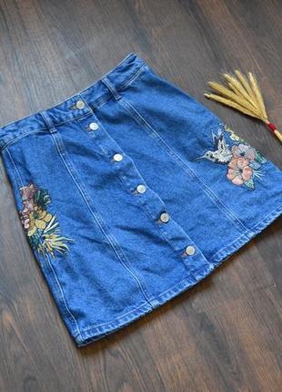 Шикарная джинсовая юбка denim co