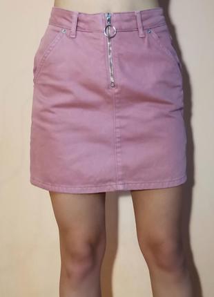 Классная джинсовая юбка от topshop
