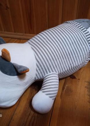 Детская игрушка-подушка с пледом внутри коровка