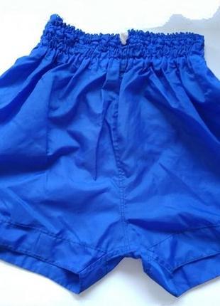Синие спортивные балоновые шорты шорти для бокса баскетбола пляжные плащовка