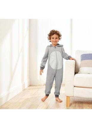 Флисовый кигуруми,пижама -слип c ушками и мордочкой распродажа