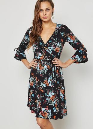 Платье цветочный принт пояс / большая распродажа!