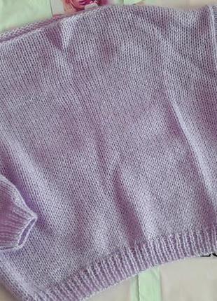 Вязанный свитерок оверсайс ручная вязка