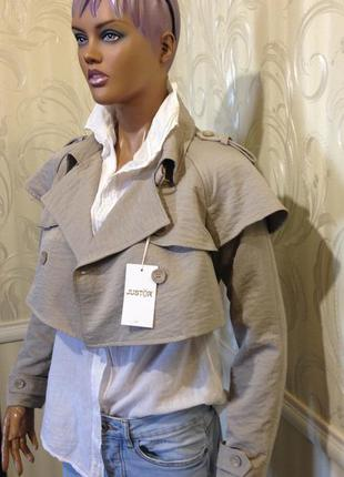 Куртка/мини-плащ, justor (италия)-оригинал, размер it-42/s