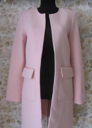 Розовое пальто от h&m размер s