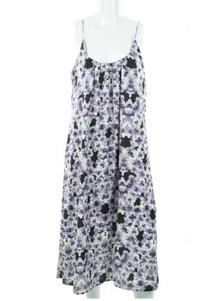 Платье сарафан h&m узор из синих анютиных глазок / большая распродажа!