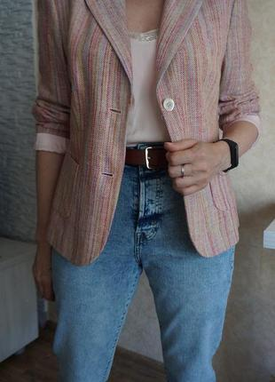 Пиджак жакет из натурального шелка/с накладными карманами/jobis