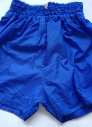 Синие спортивные с высокой талией шорты шорти для бокса баскетбола пляжные плащовка