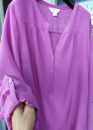 Шелковая блузка. большой размер