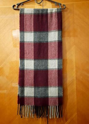 Lambswool шарф италия 100%  шерсть унисекс