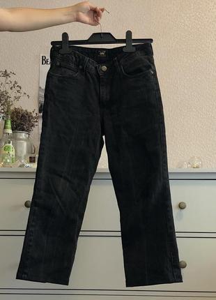 Мом джинсы lee черные