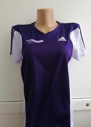 Футболка фирменная фиолетовая лиловая спортивная
