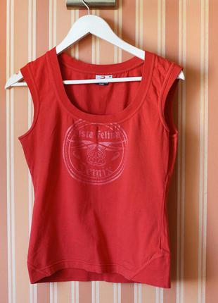 Футболка майка, красная, в комплекте шорты