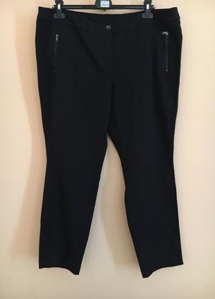 Батал большой размер стильные штаны штаники брюки брючки лампасы темно синие осенние