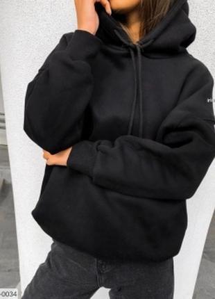 Худи, свитшот, балахон, кофта, с капюшоном, свитер, толстовка, с карманом, черный