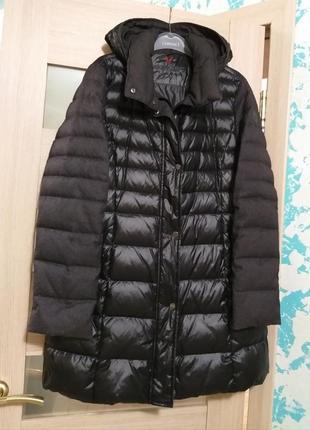 Пальто пуховое fuchs schmitt  комбинированное с капюшоном