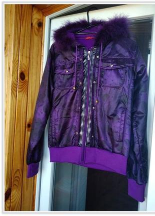 2.9. фиолетовая куртка ветровка на замке с капюшоном #распродажа sale