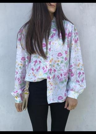 Актуальная блузка с об'ємними рукавами ! блузка брендовая рубашка