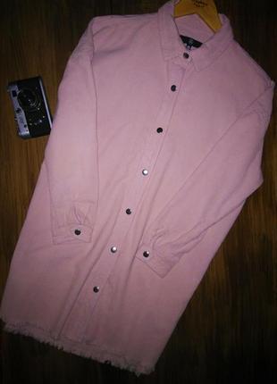 Актуальная удлиненная джинсовая рубашка на кнопках от missguided /oversize рубашка