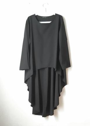Стильная  блуза туника с длинной спинкой