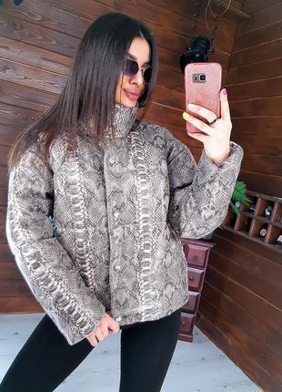 Куртка в змеиный принт