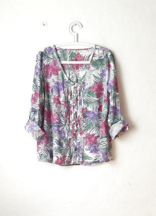 Хлопковая блуза рубашка