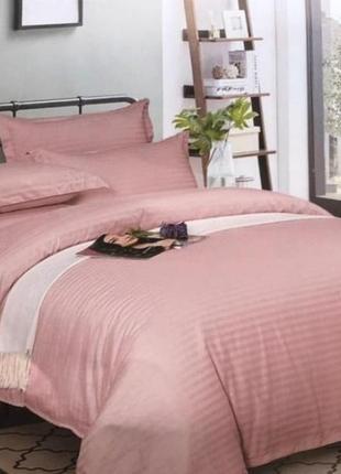 Комплект постельного белья, страйп-сатин, однотонный