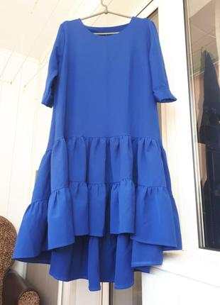 Платье цвета електрик