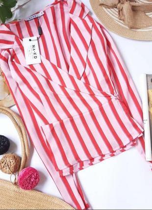 Новая полосатая блуза в бельевом стиле na-kd