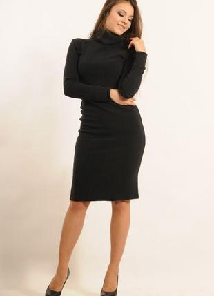 Платье теплое серое платье чулок миди