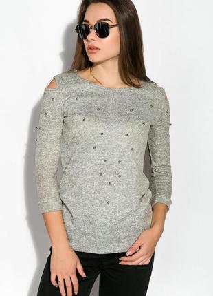 Стильный свитер-туника с бусинами