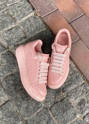 "Женские кроссовки ""alexander mcqueen pink"""