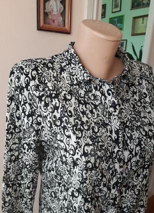 Нарядная асиметричная блуза рубашка