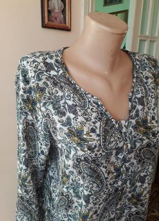 Нарядная хлопковая блуза рубашка кофта