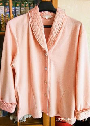 Красивый и теплый с начесом домашний костюм, пижама на 52-54 р. apical