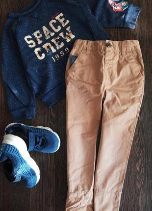 Фирменные штаны next+реглан logg на парня 104см