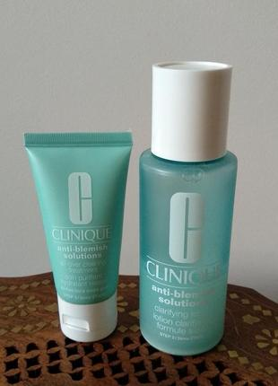 Набор clinique anti blemish solutions clearing treatment lotion