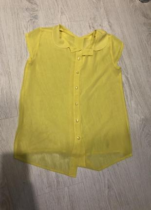 Актуальная рубашка  , жёлтая