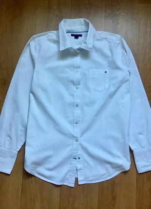 Оригинальная хлопковая рубашка tommy hilfiger