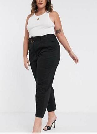Черные женские штаны большого размера # женские брюки большого размера # asos