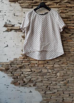 Очень стильный котоновый блузон большого размера
