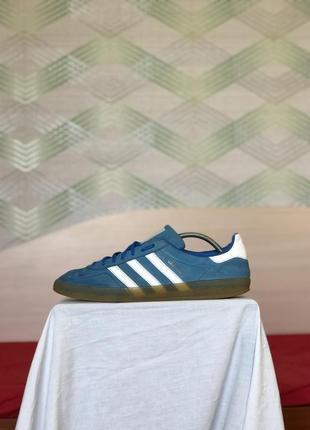 Кроссовки кеды adidas gazelle синие замшевые