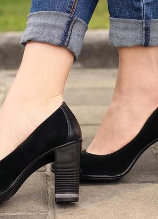 Туфли из натуральной кожи и замши 36 37