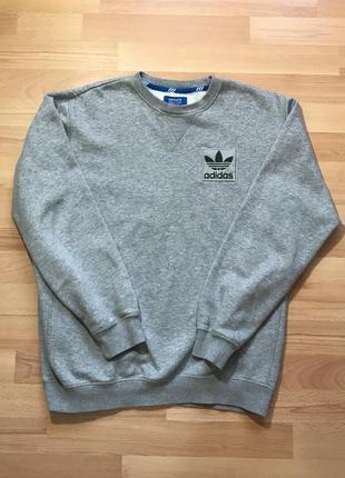 Кофта свитшот adidas серый
