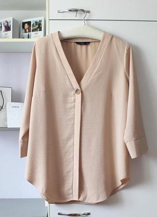 Бежевая рубашка блуза от f&f