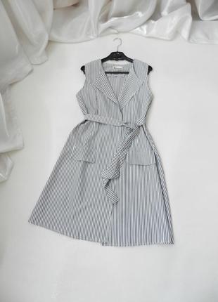 Платье кардиган в полоску