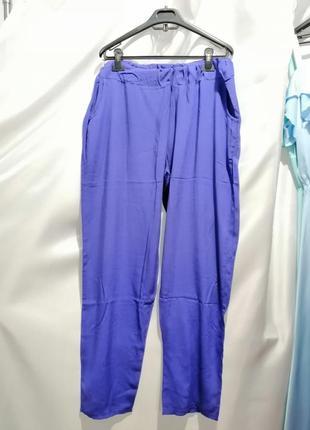 Летние брюки батал из натуральной ткани штапель