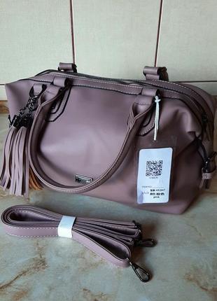 Новая базовая сумка темно-пудрового цвета