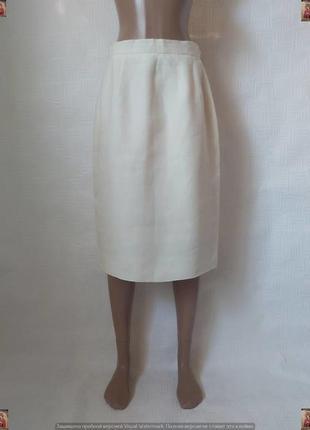 Новая юбка миди карандаш со 100 % льна и вискозы в цвете беж, размер л-хл